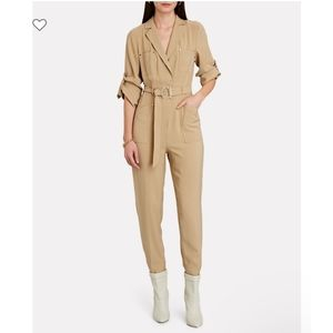NWT INTERMIX River Belted Straight-Leg Jumpsuit